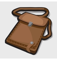 Vintage leather brown bag vector