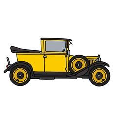 Vintage yellow car vector