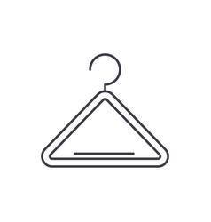 wardrobe hangers line icon concept wardrobe vector image