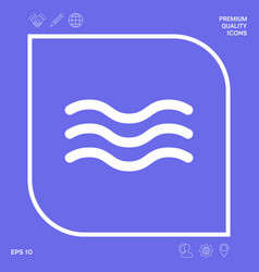 wave icon symbol graphic elements for your design vector image