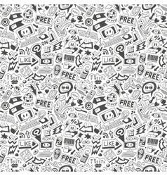 Web doodles - seamless pattern vector