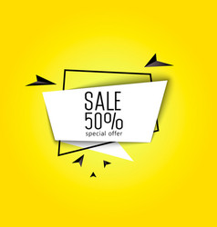 big sale banner 50 percent vector image