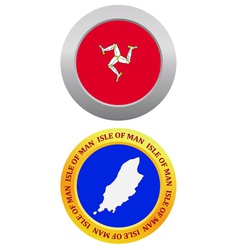 button as a symbol Isle of Man vector image vector image