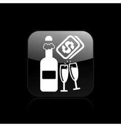 champagne cost icon vector image vector image