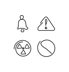 Danger and alarm set icons vector image