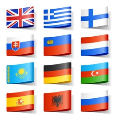 europe flags vector image vector image