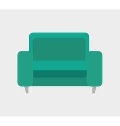 icon sofa green design vector image