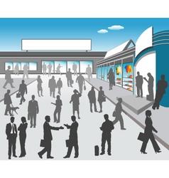 mall illustration vector image vector image