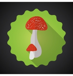 Mushrooms Bad Habits Flat icon background vector image vector image