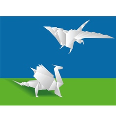 origami chinese paper vector image