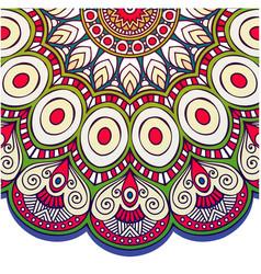 abstract mandala peacock design image vector image