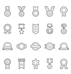 Badge Awards icons set vector image