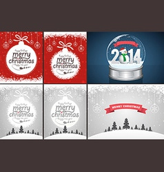 Christmas Backgrounds and Snow Globe vector image vector image