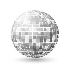 disco ball isolated night club party vector image vector image