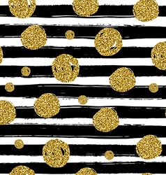 Gold circles on black handdrawn line Trendy vector image vector image