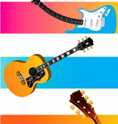guitar banners vector image
