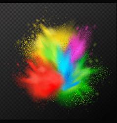paint explosion realistic composition vector image