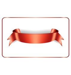 Red ribbon satin vector image vector image