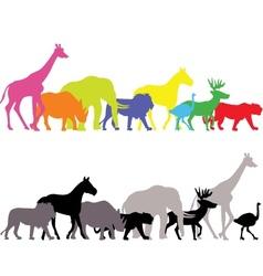 wild animal silhouette vector image vector image