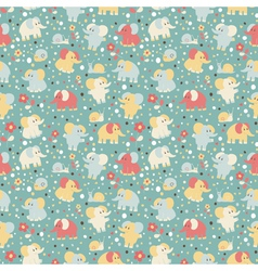Elephant and snailseamless pattern vector image vector image