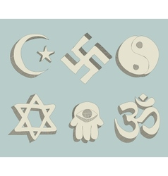 religious signs doodle vector image