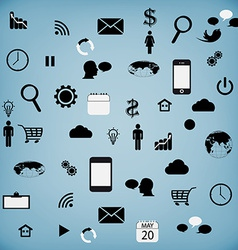 Set modern web icons for tablet vector image