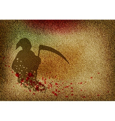 texture grain dark with reaper vector image