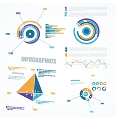 Abstract infographics elements vector image