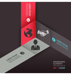 Business circle origami style options banner vector image vector image