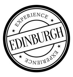 Edinburgh stamp typ vector