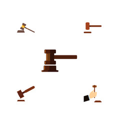 flat icon court set of government building vector image vector image