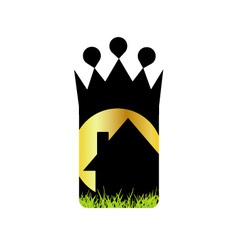 Logo for home renovation or real estate business vector image vector image