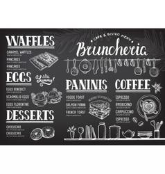 Menu restaurant food template vector image vector image