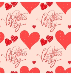 red heart valentines day background vector image