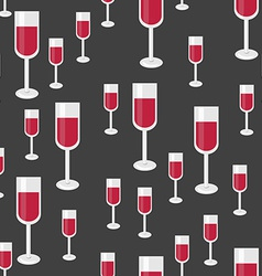 Seamless Pattern with Glasses of Red Wine vector image vector image