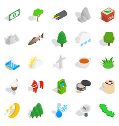 sweden business icons set isometric style vector image vector image