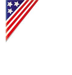 usa flag border corner vector image vector image