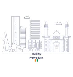 Abidjan city skyline vector