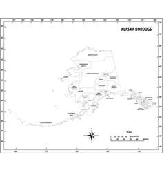 alaska state outline administrative map vector image