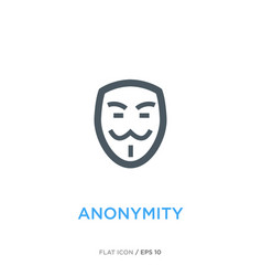 Anonymity line flat icon vector