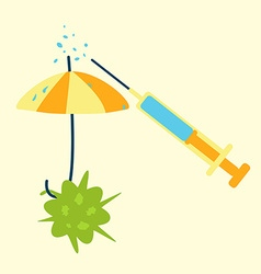 antibiotics umbrella concept vector image