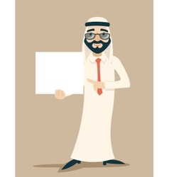 Arab Businessman Traditional National Muslim vector
