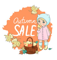 Autumn sale color set vector