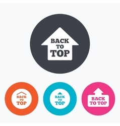 Back to top signs Scroll up with arrow vector image