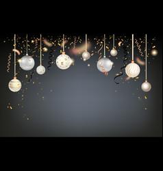 Beautiful christmas balls vector