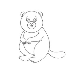 Beaver for coloring book vector