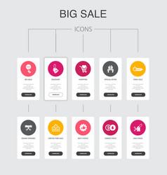 Big sale infographic 10 steps ui designdiscount vector