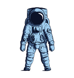 blue astronaut on isolated background image vector image