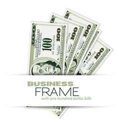 Business frame vector