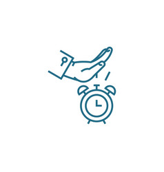 Business punctuality linear icon concept business vector